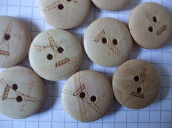 Wooden EIFFEL TOWER Buttons 20mm